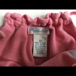 Polo by Ralph Lauren One Pieces - Ralph Lauren Polo outfit size 3 months pink romper